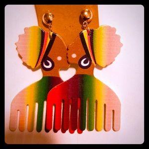 African Lady Earrings